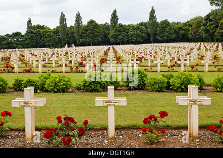 French National War Cemetery of Notre-Dame de Lorette, with over 40,000 graves from World War I, Ablain-Saint-Nazaire, - Stock Photo