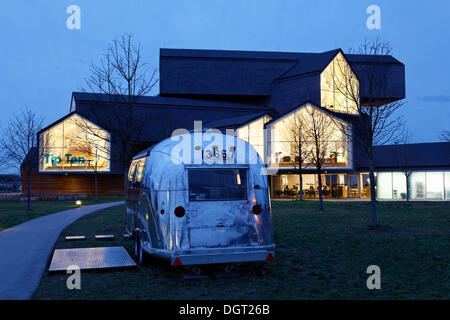 Vitra Haus building, by Herzog & de Meuron, evening mood, architectural park of the Vitra company, Weil am Rhein - Stock Photo