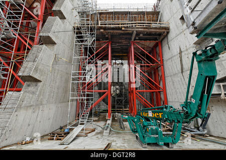 Construction site of the new hydropower plant in Rheinfelden, headwater inlet platform, chamber 4, Rheinfelden  - Stock Photo
