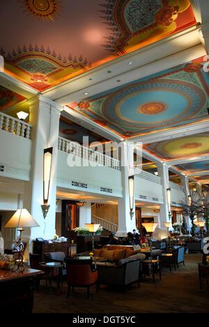 Lobby, Four Seasons Hotel, Ratchadamri, Pathumwan, Pathum Wan district, Bangkok, Krung Thep, Thailand, Asia - Stock Photo