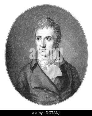 August von Kotzebue, historical illustration in Deutsche Literaturgeschichte or German literature from 1885 - Stock Photo
