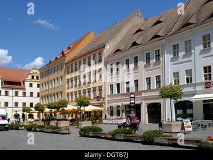 Marketplace, Torgau, Saxony - Stock Photo