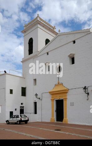 Iglesia de San Martin, St. Martin's Church, Es Mercadal, Menorca, Balearic Islands, Spain, Europe - Stock Photo