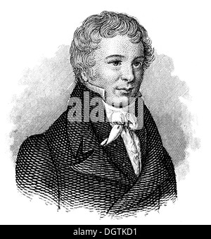Friedrich Wilhelm Christian Carl Ferdinand von Humboldt, 1767 - 1835, a German scholar, statesman - Stock Photo