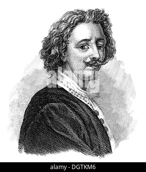 Sir Anthony van Dyck , 1599-1641, a Flemish Baroque artist, - Stock Photo