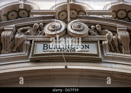 Burlington Arcade canopy detail, London - Stock Photo