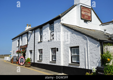 18th century The Tolcarne Inn, Tolcarne Place, Newlyn, Penzance, Cornwall, England, United Kingdom - Stock Photo