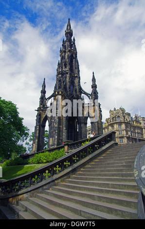 Sir Walter Scott Memorial - Stock Photo