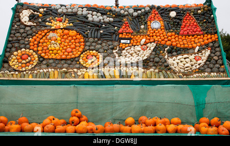 Display of Pumpkins October Slindon West Sussex - Stock Photo