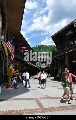 Ole Smoky Moonshine Holler, Gatlinburg, Tennessee, USA - Stock Photo