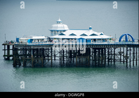 Victorian Pier Llandudno Wales UK - Stock Photo