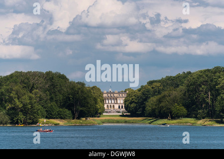 Herrenchiemsee palace, on Herreninsel island, Upper Bavaria, Bavaria - Stock Photo