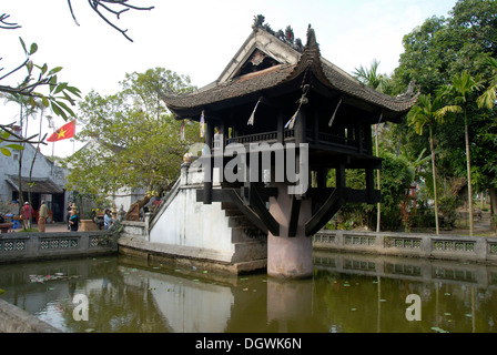 Buddhism, One Pillar Pagoda, Hanoi, Vietnam, Asia - Stock Photo