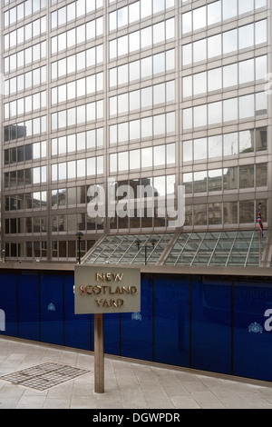 New Scotland Yard Building, Metropolitan Police Headquarters, London, England, United Kingdom, Europe - Stock Photo