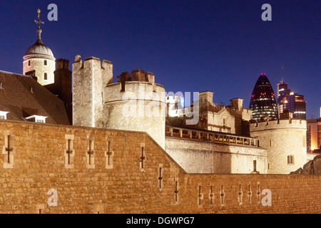 View Of The Outside Wall Of The Tower Of London Detail Of
