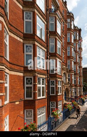 Brick buildings in the Old Gloucester - corner of Marylebone Road, London, England, United Kingdom, Europe - Stock Photo