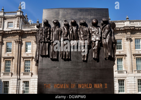 The Women of World War II, monument in front of the Cabinet Office Building, Horse Gardens Road, London, England, - Stock Photo