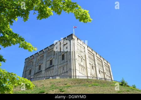 12th century keep of Norwich Castle, Norwich, Norfolk, England, United Kingdom - Stock Photo