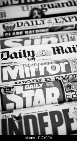 Uk Newspapers. - Stock Photo
