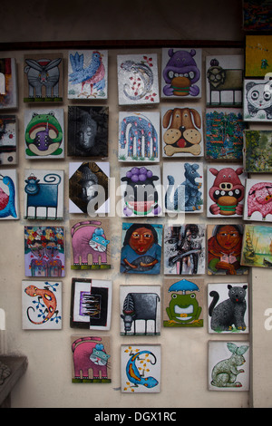 Art gallery ubud bali indonesia stock photo royalty free for Small paintings that sell