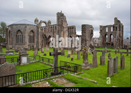 Ruins of Elgin Cathedral, Moray, Scotland, United Kingdom, Europe, Elgin, Moray, Scotland, United Kingdom - Stock Photo