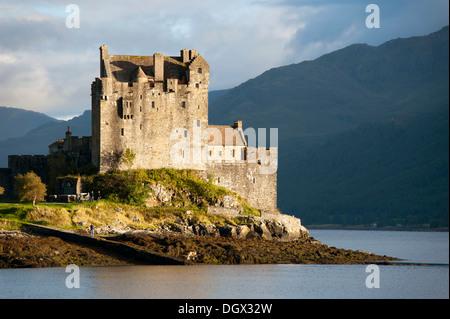 Eilean Donan Castle in Loch Duich, Highlands, Scotland, United Kingdom - Stock Photo