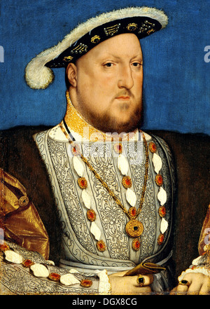 Portrait of Henry VIII, king of England - by Hans Holbein the Younger, 1540 - Stock Photo