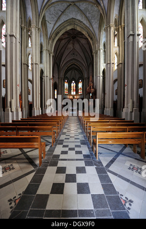 Abbey church, Saint-Antoine-l'Abbaye, France - Stock Photo