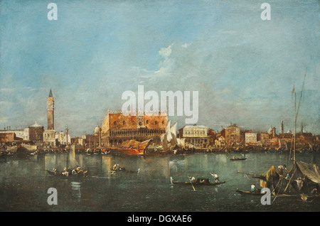 Venice from the Bacino di San Marco - by Francesco Guardi, 1780 - Stock Photo
