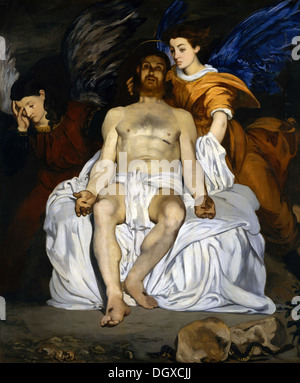 The Dead Christ with Angels - by Édouard Manet, 1864 - Stock Photo