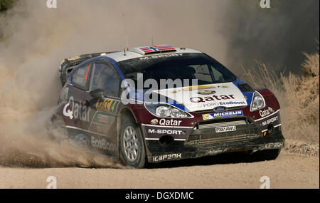Picture: Steve Race - La Fatarella; SPAIN. Sunday October 27th 2013. Special Stage 12 [Terra Alta] of the 2013 WRC - Stock Photo