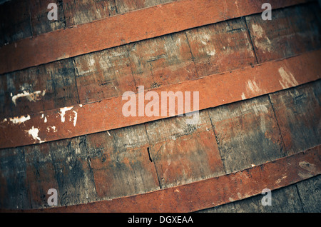 part of old wooden barrel texture - Stock Photo