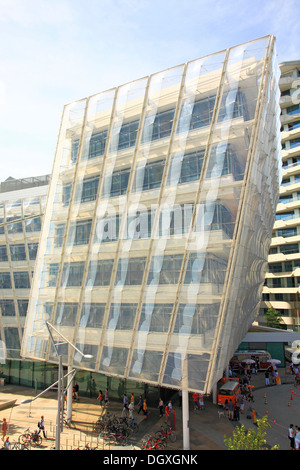 Headquarters of Unilever on Strandkai in HafenCity in the Hanseatic City of Hamburg - Stock Photo