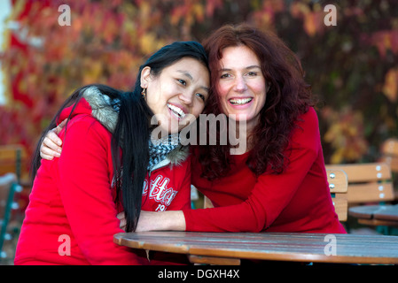 Actress, filmmaker and author Maria Blumencron with her gooddaughter, actress Chime Yangzom at a photocall in Munich, - Stock Photo