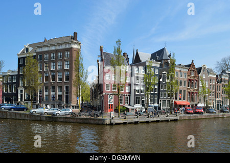 Historical merchants' houses on the Herengracht in the historic centre, Amsterdam, province of North Holland, The - Stock Photo
