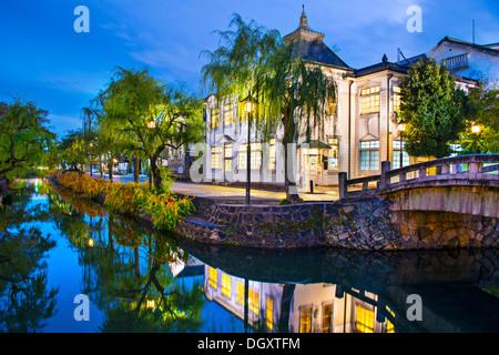 Historic canal in Kurashiki, Okayama, Japan. - Stock Photo