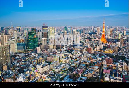 Tokyo Tower in Tokyo, Japan - Stock Photo