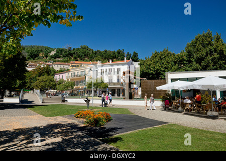 Portugal, the Algarve, garden in the central square of Monchique, the Largo dos Chorões - Stock Photo