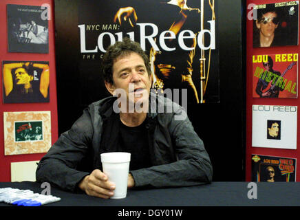 LOU REED (March 2, 1942 - October 27, 2013) was an American rock musician and songwriter. He was guitarist, vocalist, - Stock Photo