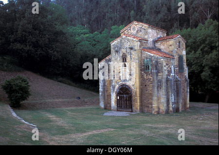 San Miguel de Lillo, Oviedo, Pre-Romanesque shrine near Oviedo - Stock Photo