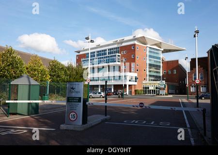 entrance gate to aintree racecourse merseyside england - Stock Photo