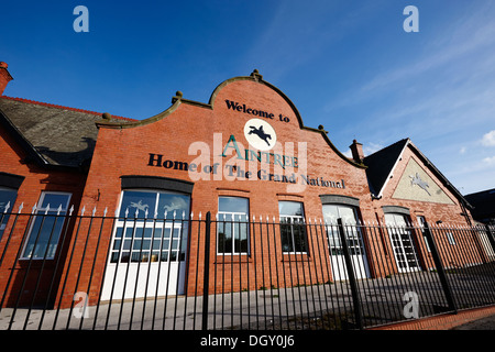 traditional entrance gate to aintree racecourse merseyside england - Stock Photo