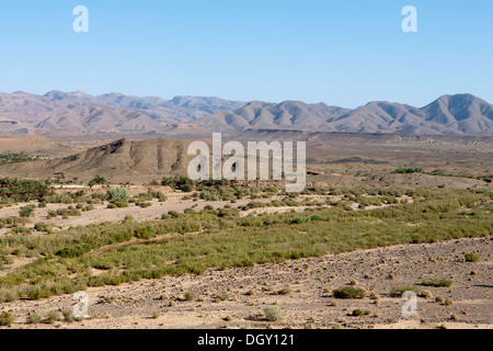 Desert area in the Zagora region of souther Morocco, North Africa - Stock Photo