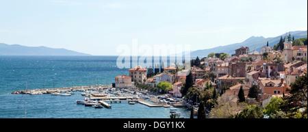 Townscape of Volosko near Opatija on the Mediterranean Sea in Kvarner Bay, Istria, Croatia, Europe, Volosko, Croatia - Stock Photo