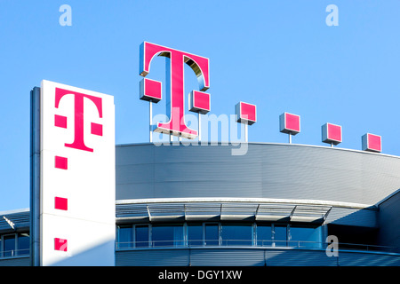 Headquarters of Deutsche Telekom AG, Bonn, Bonn, Rhineland, North Rhine-Westphalia, Germany - Stock Photo