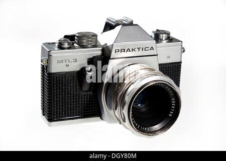 Praktica MTL 3, 35mm single-lens reflex camera, SLR, GDR - Stock Photo