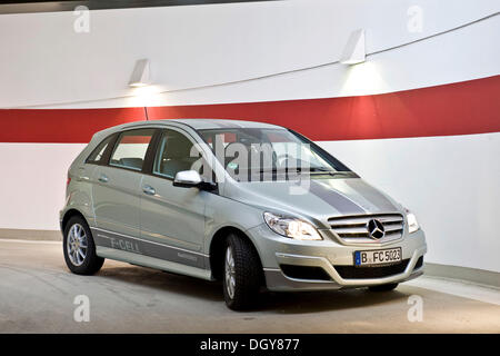 Hydrogen fuel cell vehicle, Mercedes B-class zero-emission, Berlin - Stock Photo