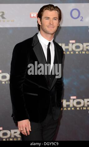 Berlin, Germany . 27th Oct, 2013. Berlin, Germany. 27th Oct, 2013. Cast member Australian actor Chris Hemsworth - Stock Photo