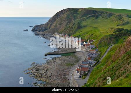 Coastal landscape near the fishing village of Crovie, Banffshire, Scotland, United Kingdom, Europe - Stock Photo