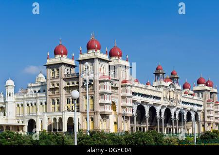 Palace of Mysore, Karnataka, South India, India, Asia Stock Photo